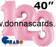 Pastel pink number balloons