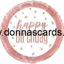 "Happy Birthday Foil Balloons 18"""