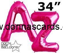 Pink Foil Letter Balloons