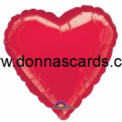 """Solid Colour 18"""" Heart Foil Balloons"""